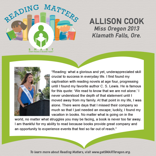 Allison Cook Reading Matters quote for SMART website