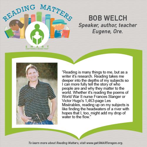 Bob Welch Reading Matters testimonial for SMART website