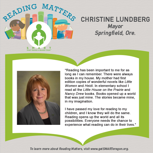 Christine Lundberg reading matters testimonial for SMART website