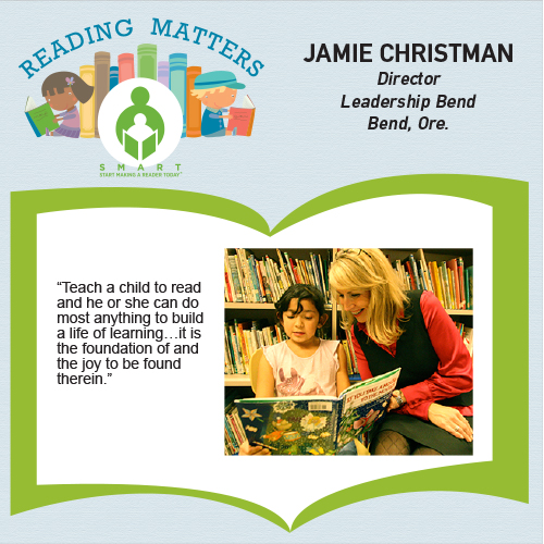 Jamie Christman reading matters testimonial for SMART website
