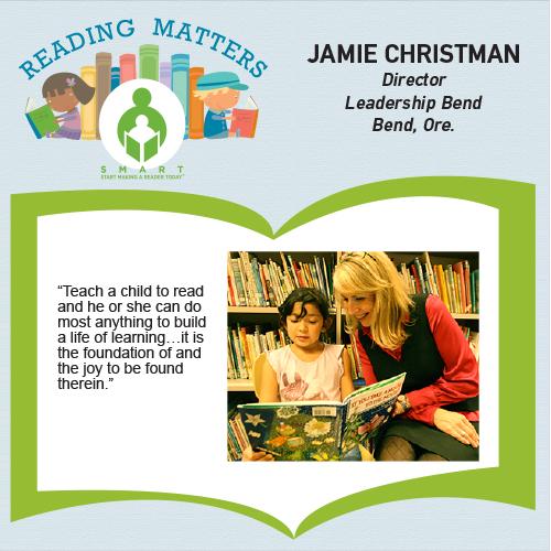 Jamie Christman reading matters testimonial for SMART website
