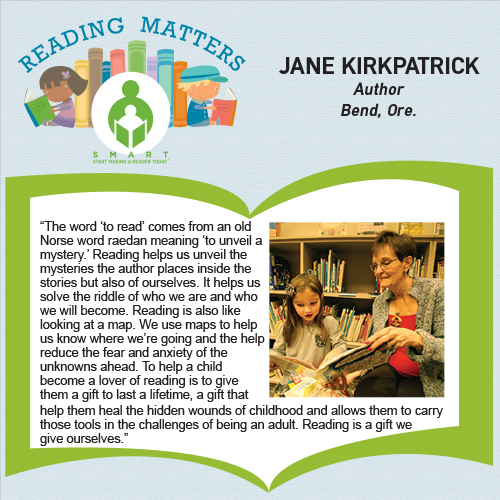 Jane Kirkpatrick reading matters quote for SMART website