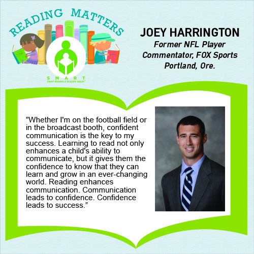 Joey Harrington Reading Matters quote for SMART website - Updated