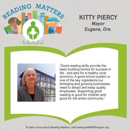 Kitty Piercy reading matters testimonial for SMART website
