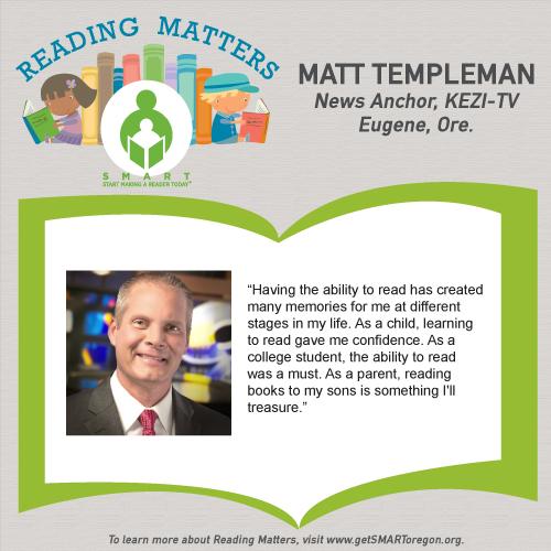 Matt Templeman Reading matters testimonial for SMART website