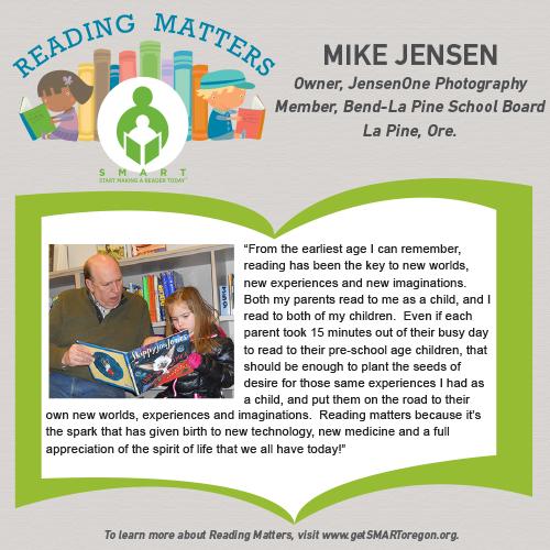 Mike Jensen Reading Matters Testimonial for SMART website