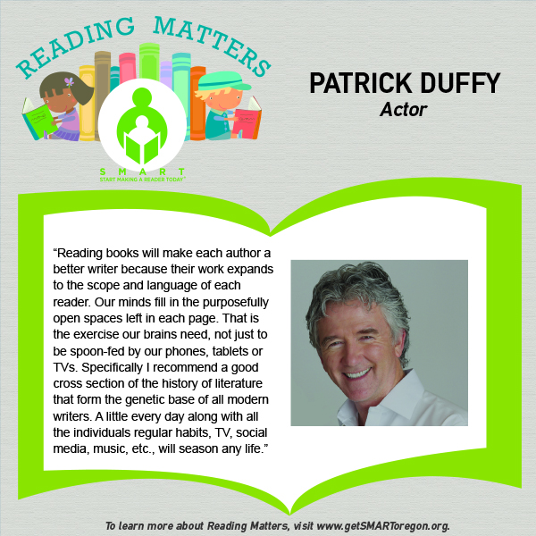 Patrick Duffy Reading Matters Testimonial for website