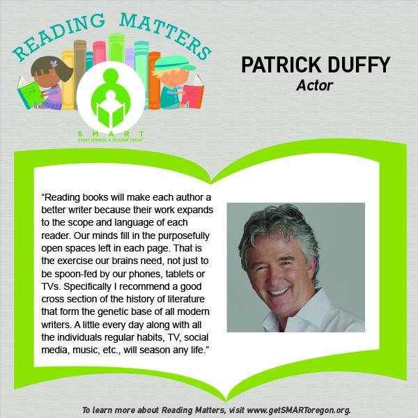 Patrick Duffy Reading Matters Testimonial for website