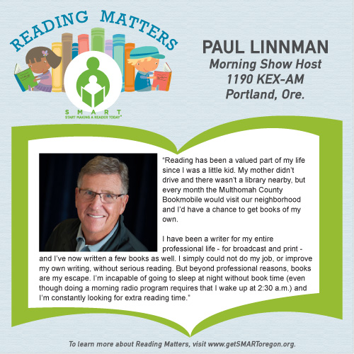 Paul Linnman reading matters testimonial for SMART website