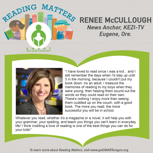 Renee McCullough Reading Matters Testimonial for SMART website