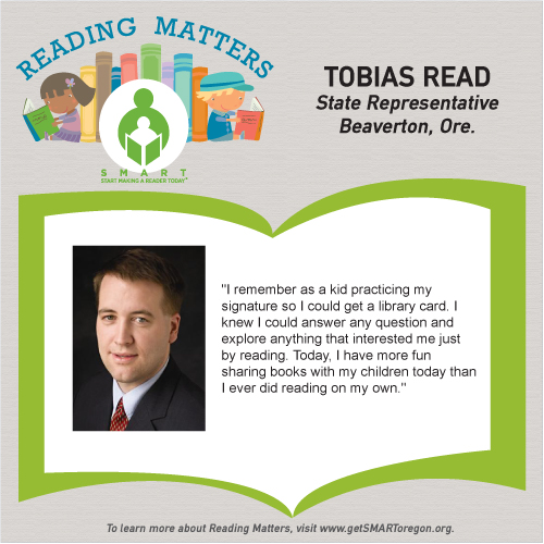 Rep Tobias Read Reading Matters Testimonial for SMART website