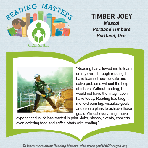 Timber Joey Reading Matters testimonial for SMART Website