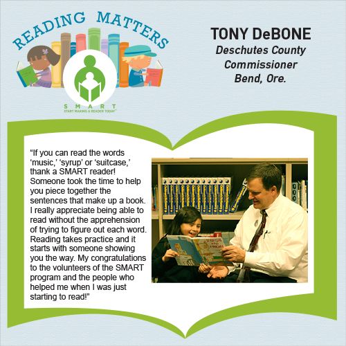Tony Debone reading matters quote for SMART website