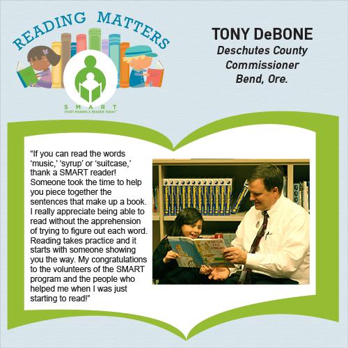 Tony Debone reading matters quote for SMART website